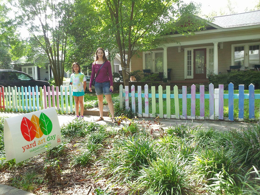 Meg Houlihan - Painted Fence with Elena and Claire